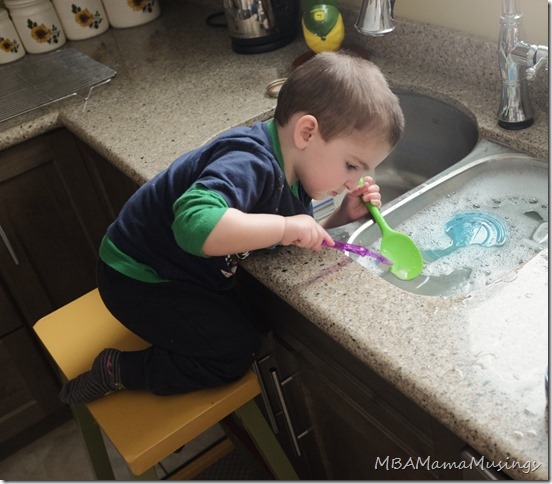 Picture of a Boy Washing Dishes Little Boy Washing Dishes